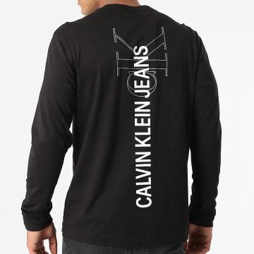 Calvin Klein - Tee Shirt Manches Longues Institutional Seasonal Graphic 8207 Noir