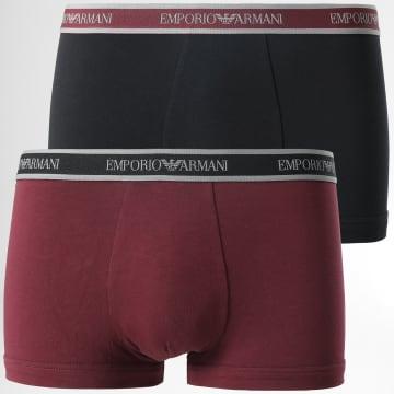 Emporio Armani - Lot De 2 Boxers 111210 1A717 Noir Bordeaux