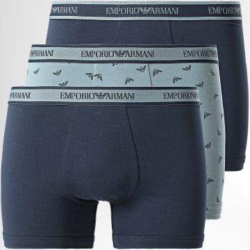 Emporio Armani - Lot De 3 Boxers 111473 1A717 Noir Gris