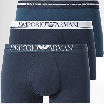Emporio Armani - Lot De 3 Boxers 111357 1A723 Bleu Marine