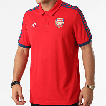Adidas Performance - Polo Manches Courtes A Bandes Arsenal FC 3 Stripes GR4206 Rouge