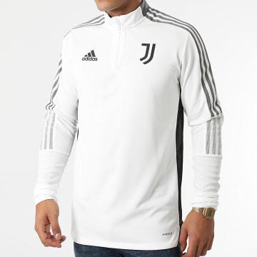 Adidas Performance - Sweat Col Zippé A Bandes Juventus GR2941 Ecru