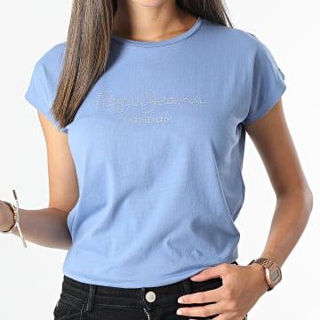 Pepe Jeans - Tee Shirt Femme Bonnie Bleu Clair