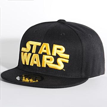 Star Wars - Casquette Snapback Logo Noir Jaune