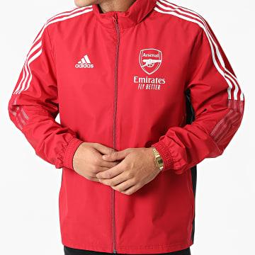 Adidas Performance - Veste Zippée A Bandes Arsenal FC GR4139 Bordeaux