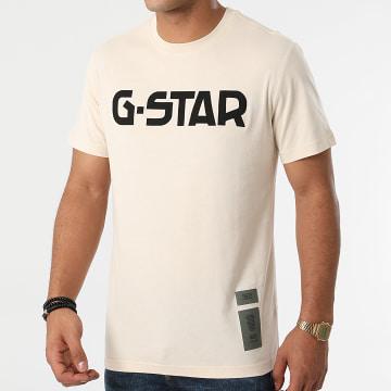 G-Star - Tee Shirt D20190-336 Beige