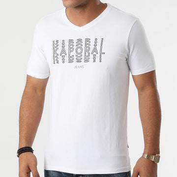 Kaporal - Tee Shirt Col V Rito Blanc