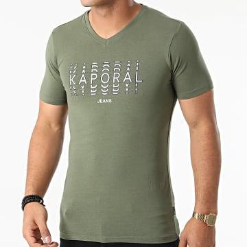 Kaporal - Tee Shirt Col V Rito Vert Kaki