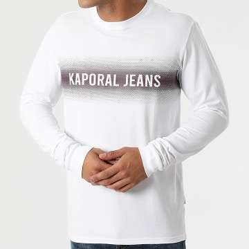 Kaporal - Tee Shirt Manches Longues Ringo Blanc