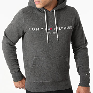 Tommy Hilfiger - Sweat Capuche Logo 1599 Gris Anthracite Chiné