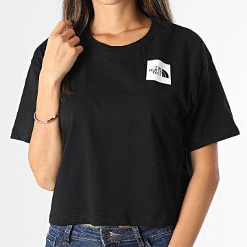 The North Face - Tee Shirt Femme Crop Fine Noir