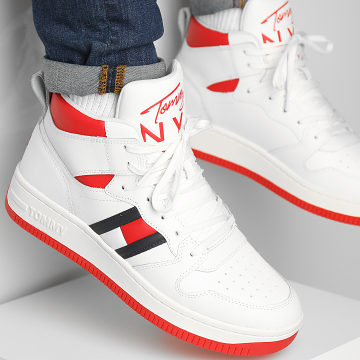 Tommy Jeans - Baskets High Cupsole TJM Leather 0811 Ecru