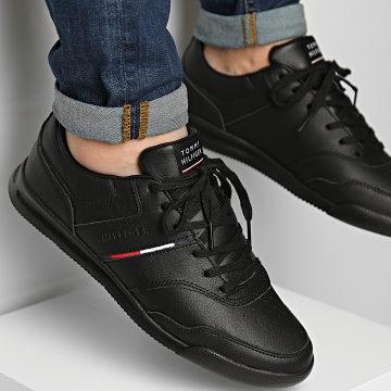 Tommy Hilfiger - Baskets Lightweight Leather Stripes 3729 Black