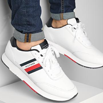 Tommy Hilfiger - Baskets Essential Runner Stripes Leather 3744 White