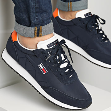 Tommy Jeans - Baskets Retro Low Runner Mix 0814 Twilight Navy