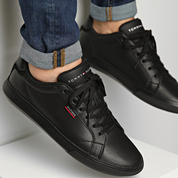 Tommy Hilfiger - Baskets Essential Leather Cupsole 3750 Black
