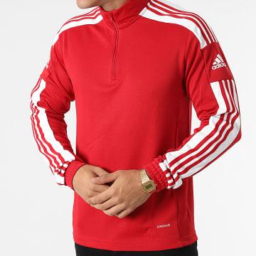 Adidas Performance - Sweat Col Zippé A Bandes SQ21 GP6472 Rouge