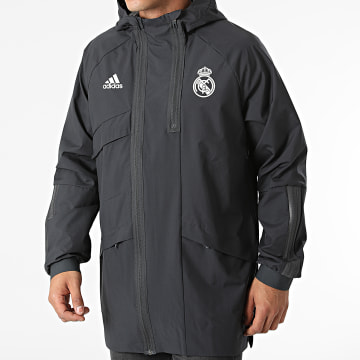 Adidas Performance - Veste Zippée A Capuche Real Madrid GR4275 Gris Anthracite