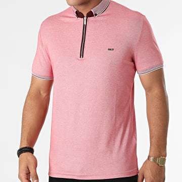 Classic Series - Polo Manches Courtes 21Y-1118 Rouge Chiné