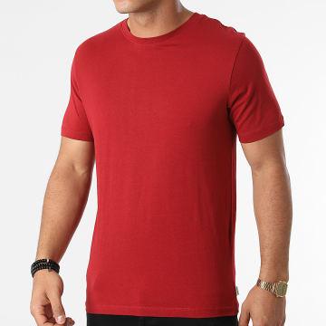 Jack And Jones - Tee Shirt Organic Basic Rouge Foncé