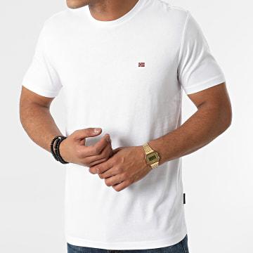 Napapijri - Tee Shirt Salis A4FRP Blanc