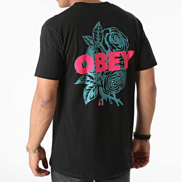 Obey - Tee Shirt Blood And Roses Noir