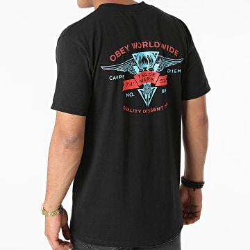 Obey - Tee Shirt Winged Lotus Noir