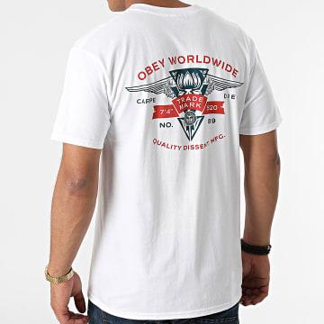 Obey - Tee Shirt Winged Lotus Blanc