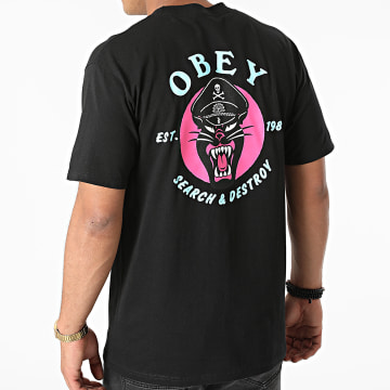 Obey - Tee Shirt Obey Battle Panther Noir