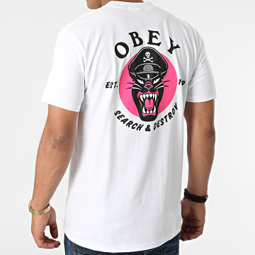 Obey - Tee Shirt Obey Battle Panther Blanc
