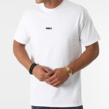 Obey - Tee Shirt Obey Bold Mini Blanc