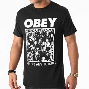 Obey - Tee Shirt Is There Any Furture Noir