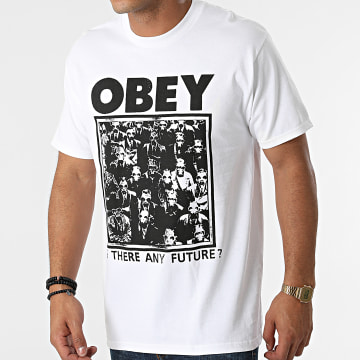 Obey - Tee Shirt Is There Any Furture Blanc