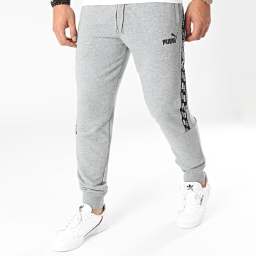 Puma - Pantalon Jogging A Bandes 589416 Gris Chiné