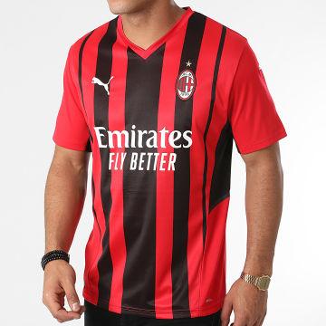 Puma - Tee Shirt A Rayures AC Milan 759122 Rouge Noir