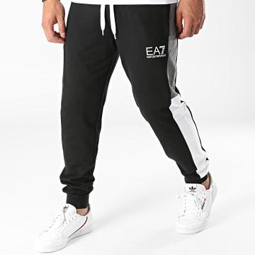 Emporio Armani - Pantalon Jogging A Bandes 6KPP73-PJ05Z Noir Gris Anthracite Chiné