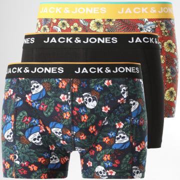 Jack And Jones - Lot De 3 Boxers Brac 12194129 Noir Flora