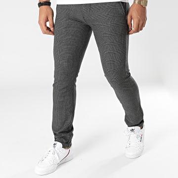 Le Temps Des Cerises - Pantalon Carreaux Prato Gris Anthracite