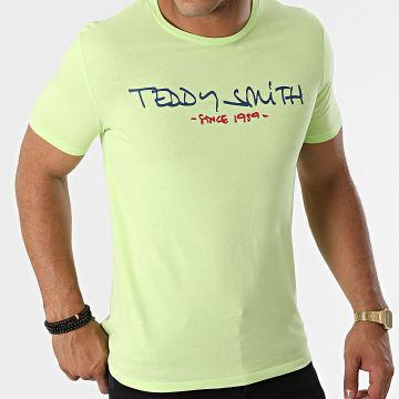 Teddy Smith - Tee Shirt Ticlass Basic Vert Anis
