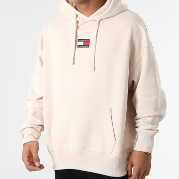 Tommy Jeans - Sweat Capuche Tommy Badge 0904 Rose Beige