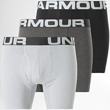 Under Armour - Lot De 3 Boxers Charged Cotton 1363617 Bleu Marine Gris