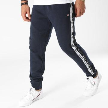 Champion - Pantalon Jogging A Bandes 216561 Bleu Marine