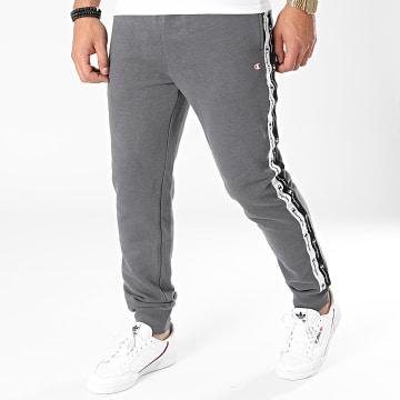 Champion - Pantalon Jogging A Bandes 216561 Gris Anthracite