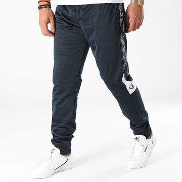Champion - Pantalon Jogging A Bandes 216614 Bleu Marine