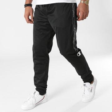 Champion - Pantalon Jogging A Bandes 216614 Noir