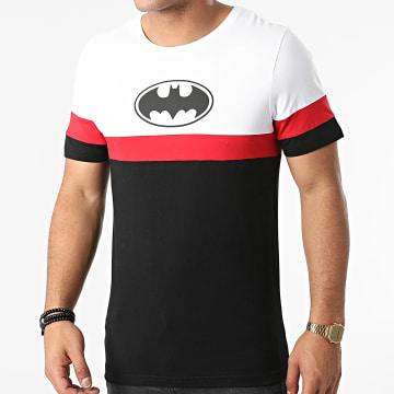 DC Comics - Tee Shirt Batman Logo Tricolore Noir Blanc Rouge