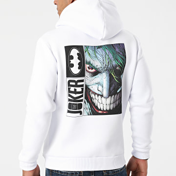 DC Comics - Sweat Capuche The Joker Back Blanc