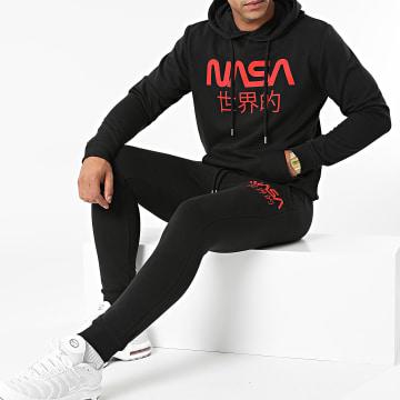 NASA - Ensemble De Survetement Japan Logo Noir Rouge