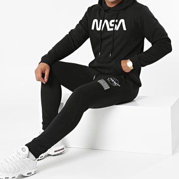 NASA - Ensemble De Survetement Patches Noir Blanc