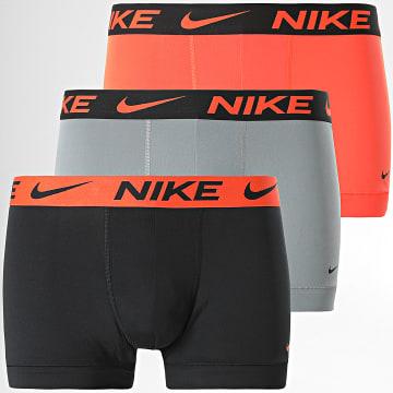 Nike - Lot De 3 Boxers Essential Micro KE1014 Orange Noir Gris